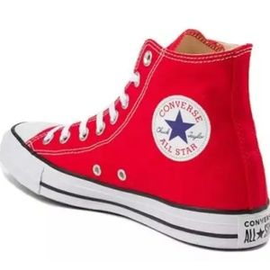 Converse Chuck Taylor high tops red size 8